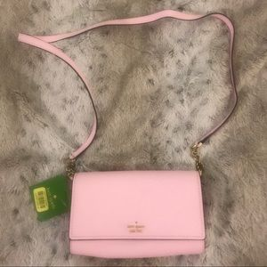 NWT Kate spade pink leather crossbody bag purse